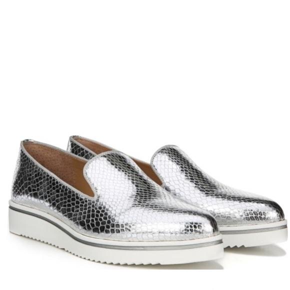 751c7305b6a Franco Sarto Shoes - Franco Sarto silver metallic Fabrina loafer